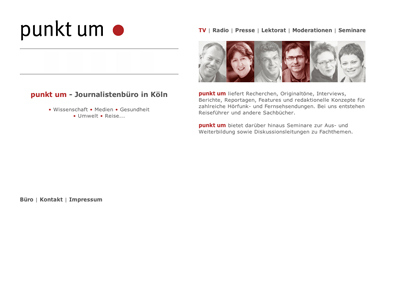 Punkt um Journalistenbüro Website